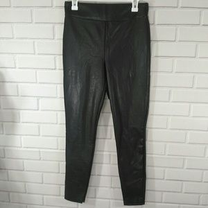 Express Super High Rise Faux Leather Legging Sz M